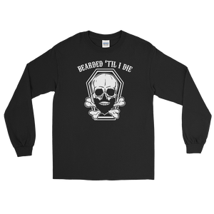 Bearded 'Til I Die - Long Sleeve T-Shirt - Cozzoo