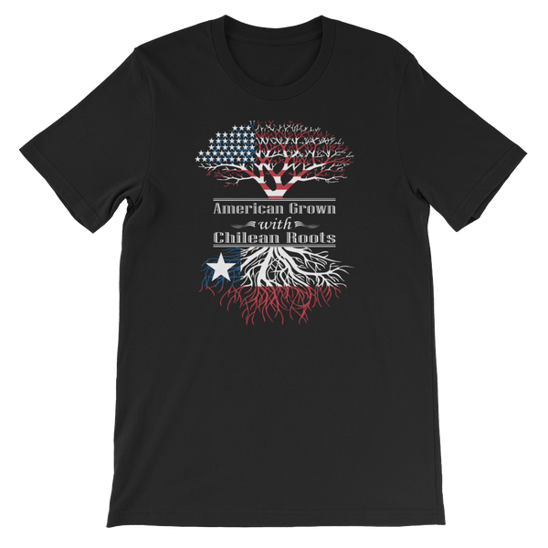 American Grown With Chilean Roots - Short-Sleeve Unisex T-Shirt - Cozzoo