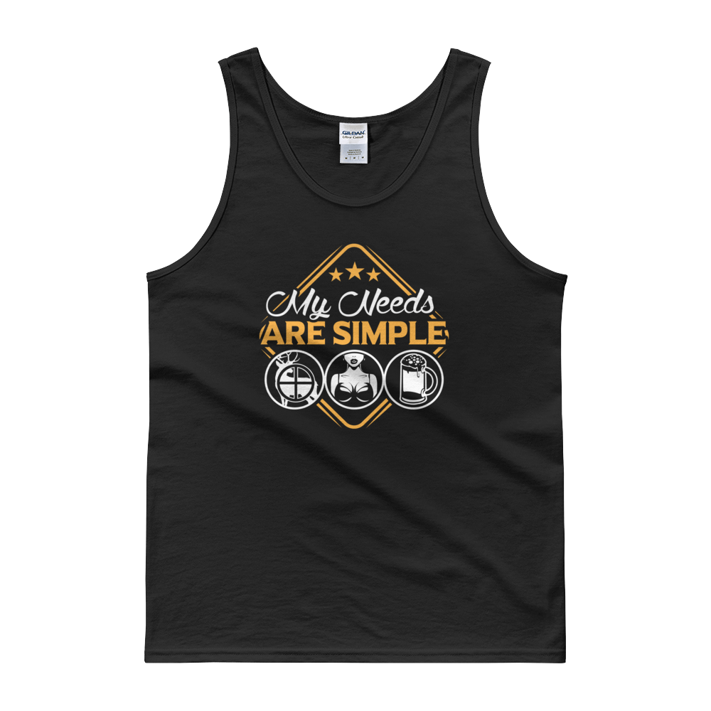 Hunting | Boobs | Beer - My Needs Are Simple - Tank top - Cozzoo