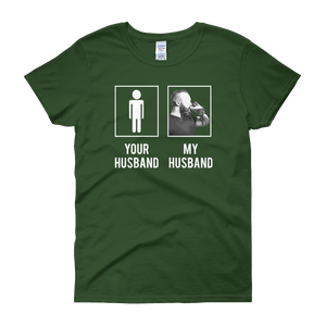 Your Husband My Husband - Beer/Beard - Women's short sleeve t-shirt - Cozzoo