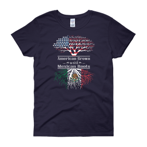 American Grown With Mexican Roots - Women's short sleeve t-shirt - Cozzoo