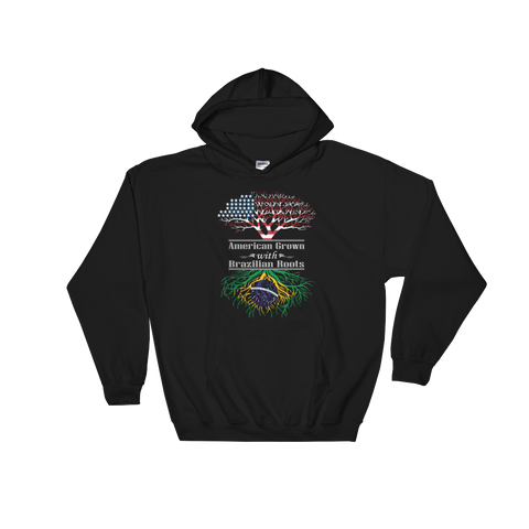 American Grown With Brazilian Roots - Hoodie Sweatshirt Sweater - Cozzoo