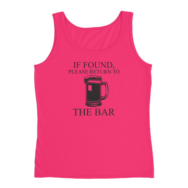 If Found, Please Return To The Bar - Ladies' Tank - Cozzoo