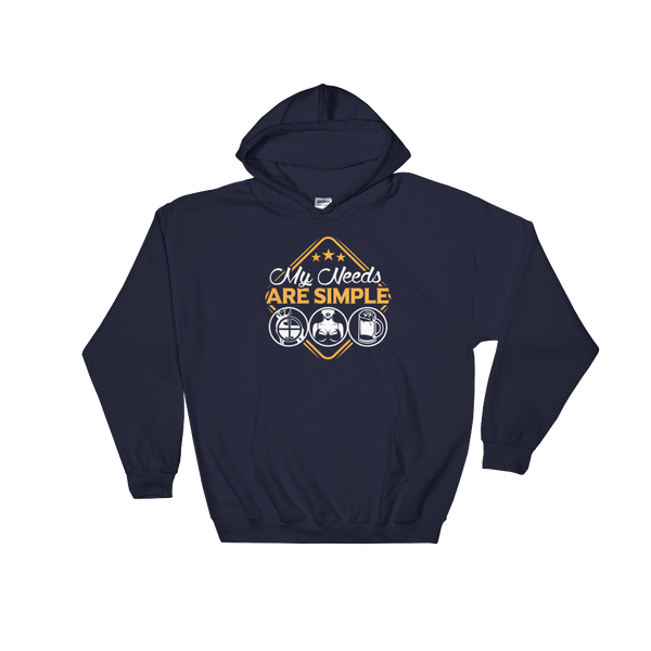 Hunting | Boobs | Beer - My Needs Are Simple - Hoodie Sweatshirt Sweater - Cozzoo