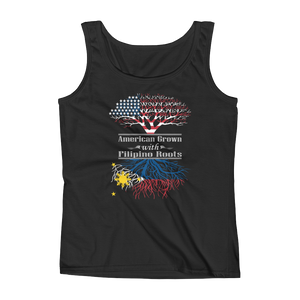 American Grown With Filipino Roots - Ladies' Tank - Cozzoo