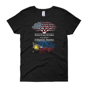 American Grown With Filipino Roots - Women's short sleeve t-shirt - Cozzoo