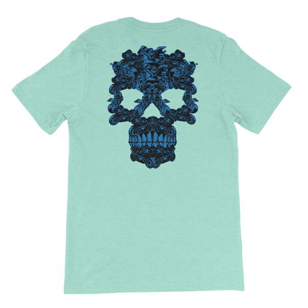Front Skull Of Sportbikes - Short-Sleeve Unisex T-Shirt - Cozzoo