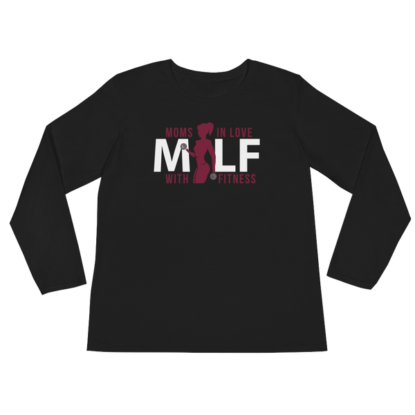 MILF Moms In Love With Fitness - Ladies' Long Sleeve T-Shirt - Cozzoo