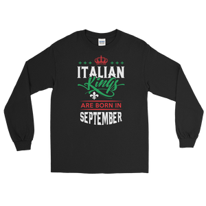 Italian Kings Are Born In September - Long Sleeve T-Shirt - Cozzoo