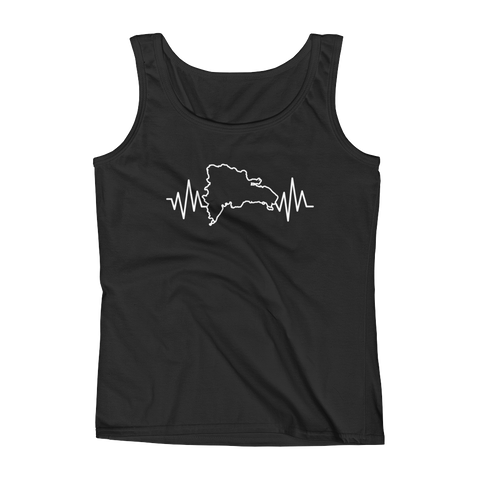 Dominican Heartbeat - Ladies' Tank - Cozzoo
