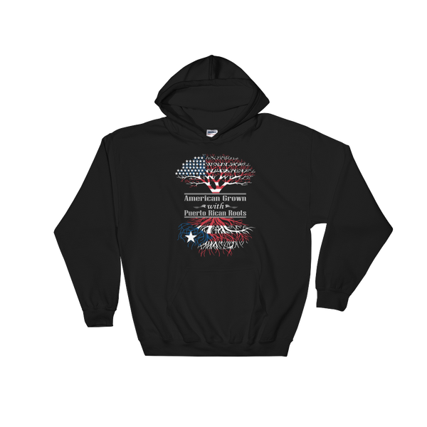 American Grown With Puerto Rican Roots - Hoodie Sweatshirt - Cozzoo