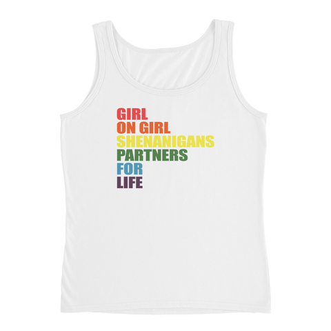 Girl On Girl Shenanigans Partners For Life - Ladies' Tank - Cozzoo