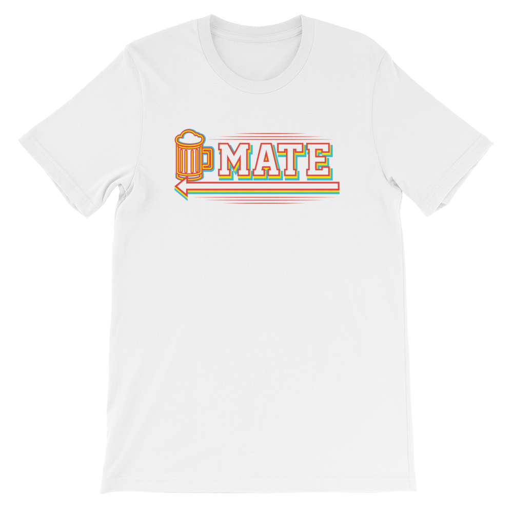 Drinking Mate - Short-Sleeve Unisex T-Shirt - Cozzoo