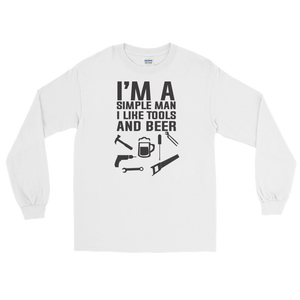 I'm A Simple Man I Like Tools And Beer - Long Sleeve T-Shirt - Cozzoo
