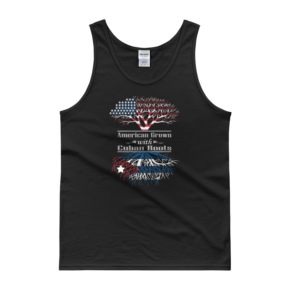 American Grown With Cuban Roots - Tank top - Cozzoo