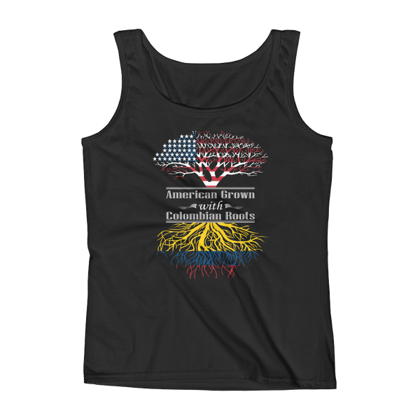 American Grown With Colombian Roots - Ladies' Tank - Cozzoo