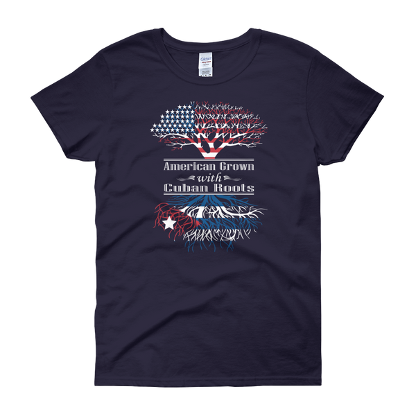American Grown With Cuban Roots - Women's short sleeve t-shirt - Cozzoo