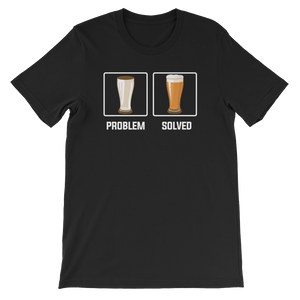 Problem Solved - Beer - Short-Sleeve Unisex T-Shirt - Cozzoo