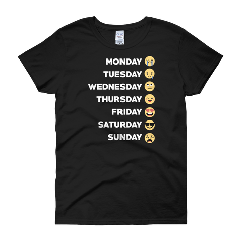 Monday Tuesday Wednesday Thursday Friday Saturday Sunday - Women's short sleeve t-shirt - Cozzoo