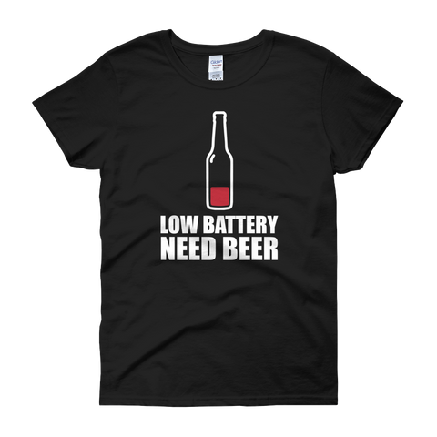 Low Battery Need Beer - Women's short sleeve t-shirt - Cozzoo