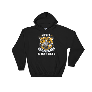 Never Underestimate A Tattooed Man With A Barbell - Hoodie Sweatshirt Sweater - Cozzoo