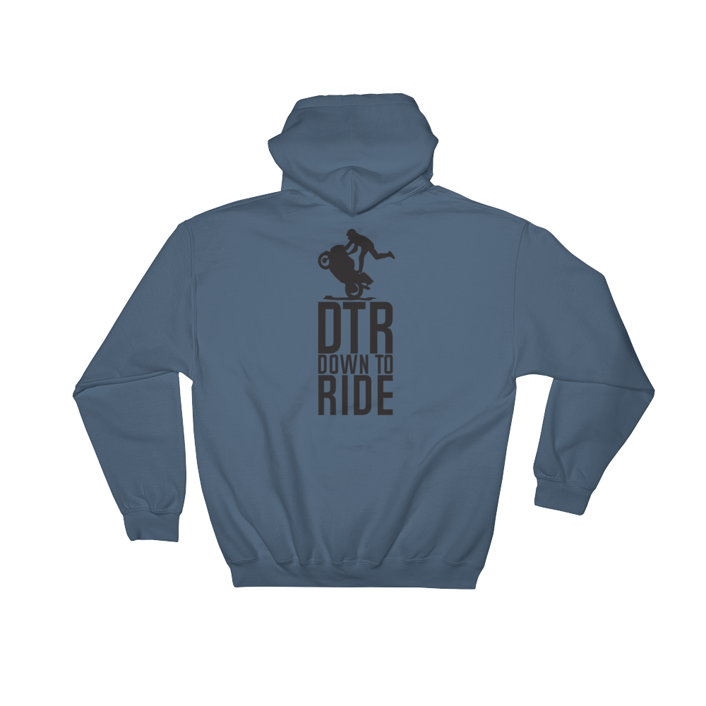 DTR Down to Ride - Hoodie Sweatshirt Sweater - Cozzoo