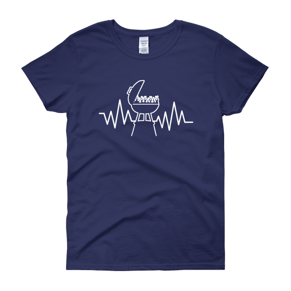 Grill Heartbeat - Women's short sleeve t-shirt - Cozzoo