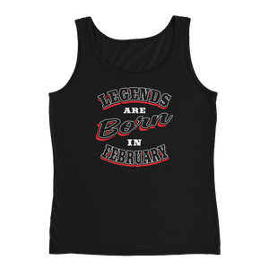 Legends Are Born In February - Ladies' Tank - Cozzoo