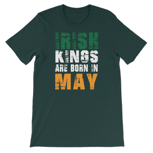 Irish Kings Are Born In May - Short-Sleeve Unisex T-Shirt - Cozzoo