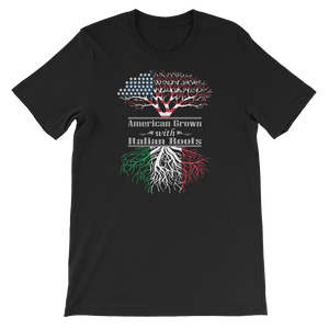 American Grown With Italian Roots - Short-Sleeve Unisex T-Shirt - Cozzoo