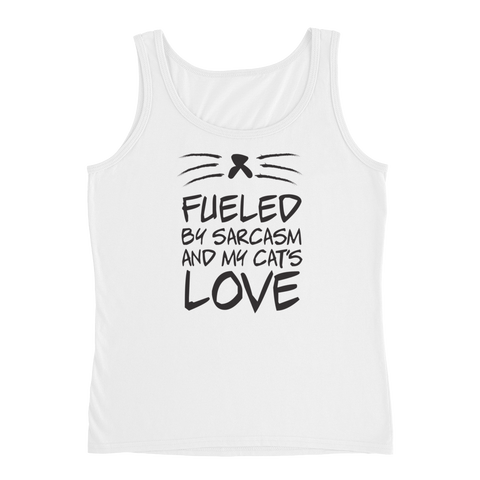 Fueled By Funny And My Cat's Love - Ladies' Tank - Cozzoo