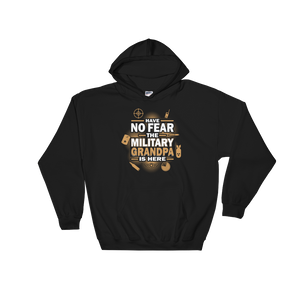 Have No Fear The Military Grandpa Is Here - Hoodie Sweatshirt Sweater - Cozzoo