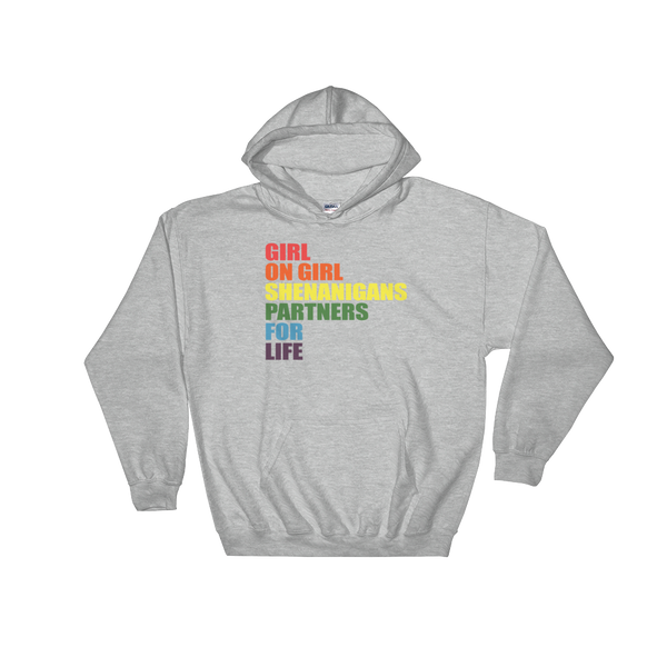 Girl On Girl Shenanigans Partners For Life - Hoodie Sweatshirt Sweater - Cozzoo