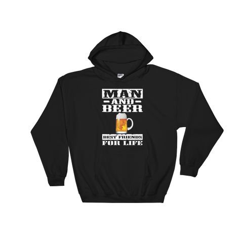 Man And Beer Best Friends For Life - Hoodie Sweatshirt - Cozzoo