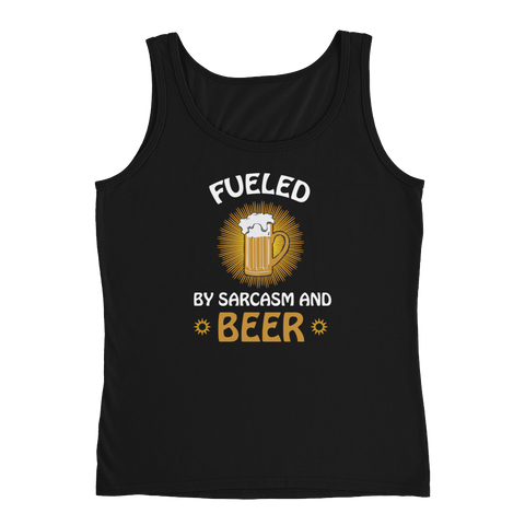 Fueled By Funny And Beer - Ladies' Tank - Cozzoo