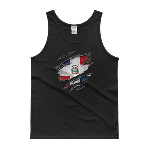 Dominican Flag Ripped Chest - Tank top - Cozzoo