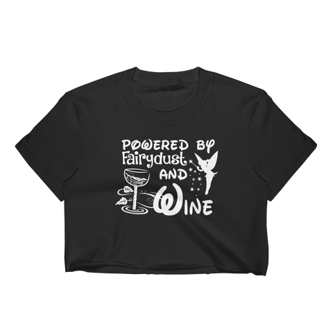 Powered By Fairydust And Wine - Women's Crop Top - Cozzoo