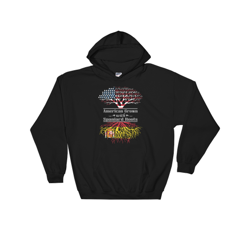 American Grown With Spaniard Roots - Hooded Sweatshirt - Cozzoo
