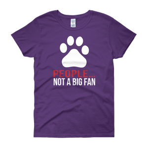 People… Not A Big Fan - Dogs - Women's short sleeve t-shirt - Cozzoo