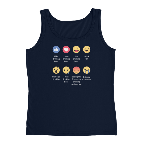 I Like Drinking Beer, I Love Drinking Beer.... Drinking Cancelled - Ladies' Tank - Cozzoo