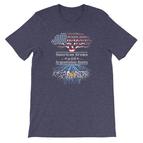 American Grown With Argentinian Roots - Short-Sleeve Unisex T-Shirt - Cozzoo