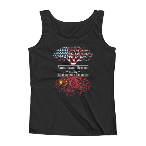 American Grown With Chinese Roots - Ladies' Tank - Cozzoo