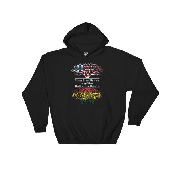 American Grown With Bolivian Roots - Hoodie Sweatshirt Sweater - Cozzoo