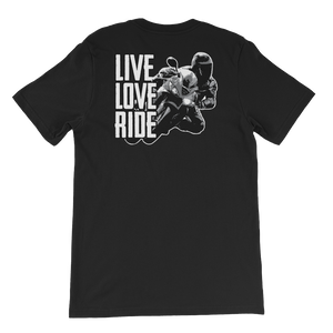 Live Love Ride - Short-Sleeve Unisex T-Shirt - Cozzoo