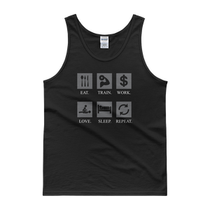 Eat Train Work Love Sleep Repeat - Tank top - Cozzoo