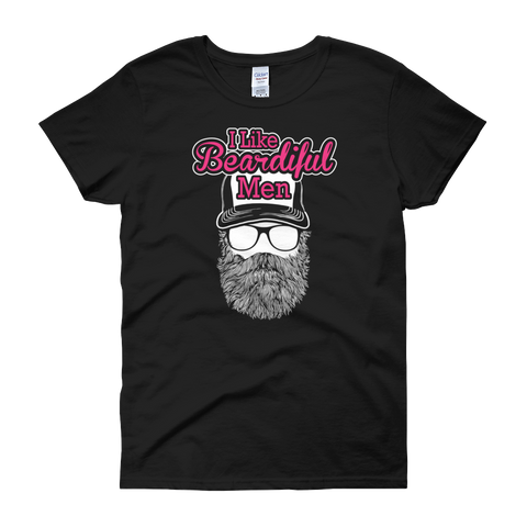 I Like Beardiful Men - Women's short sleeve t-shirt - Cozzoo