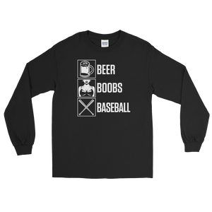 Beer Boobs Baseball - Long Sleeve T-Shirt - Cozzoo