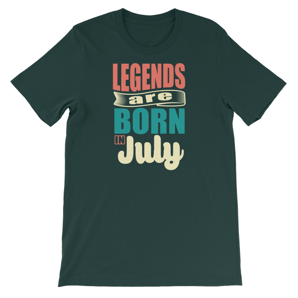 Legends Are Born In July - Short-Sleeve Unisex T-Shirt - Cozzoo