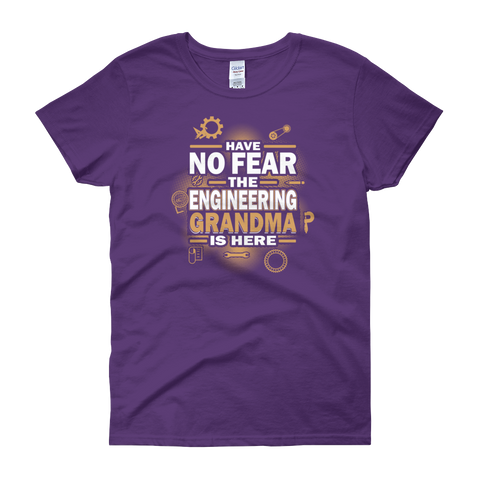 Have No Fear The Engineering Grandma Is Here - Women's short sleeve t-shirt - Cozzoo