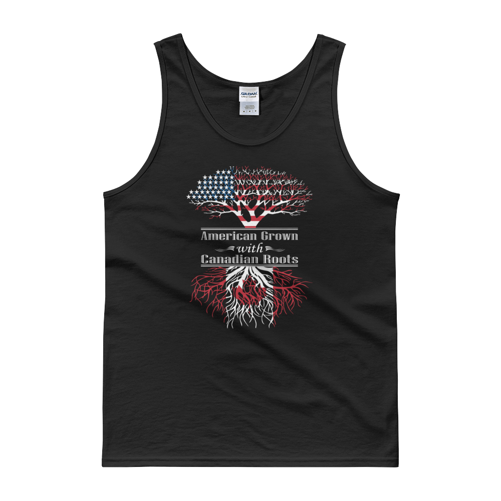 American Grown With Canadian Roots - Tank top - Cozzoo